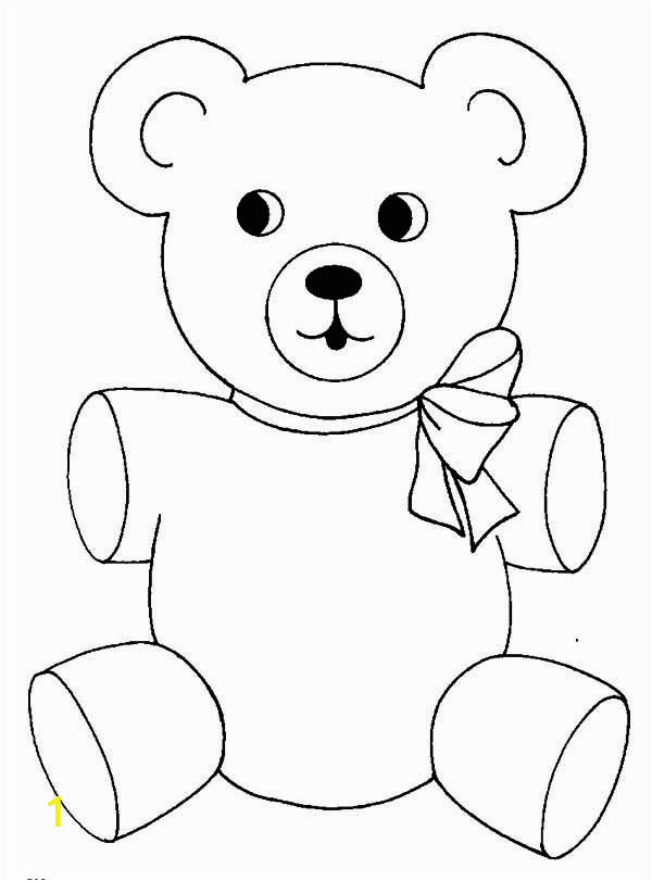 Coloring Pages Of Cute Teddy Bears Teddy Bear Wear Cute Ribbon Coloring Page Color Luna