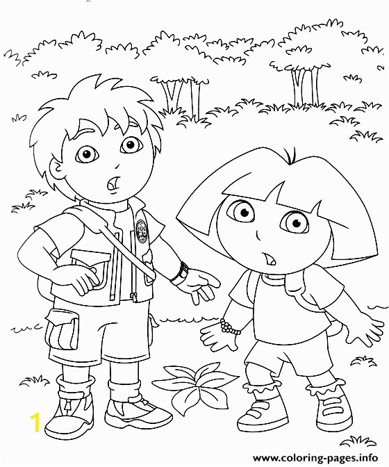 go and dora9d2f printable coloring pages book