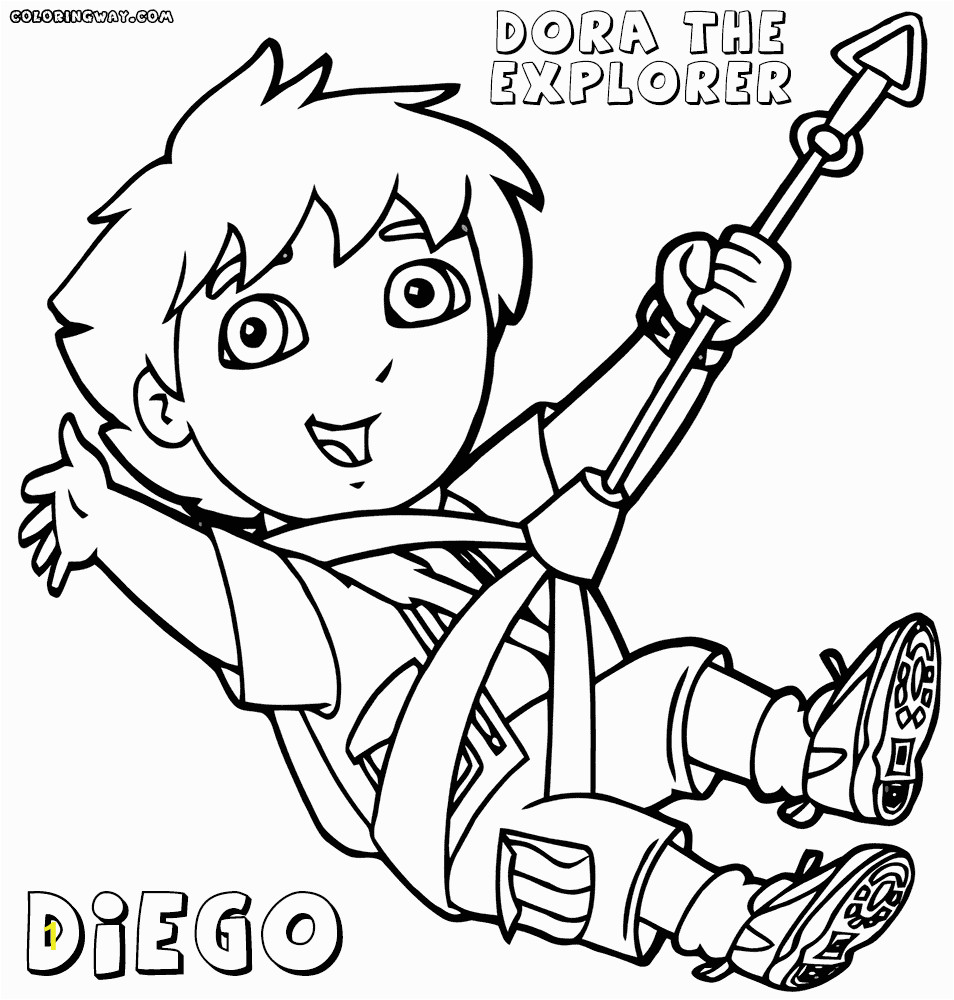 dora and go coloring pages