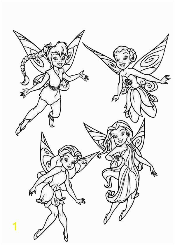 disney fairies pixie coloring page