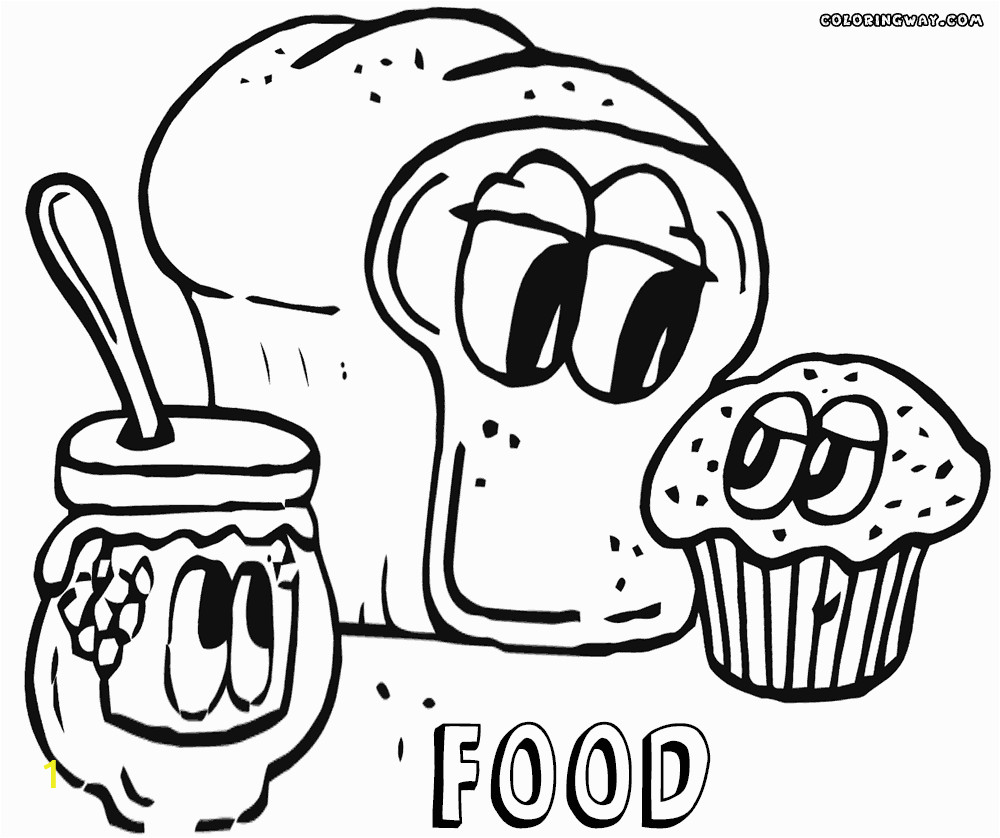 food with faces coloring pages