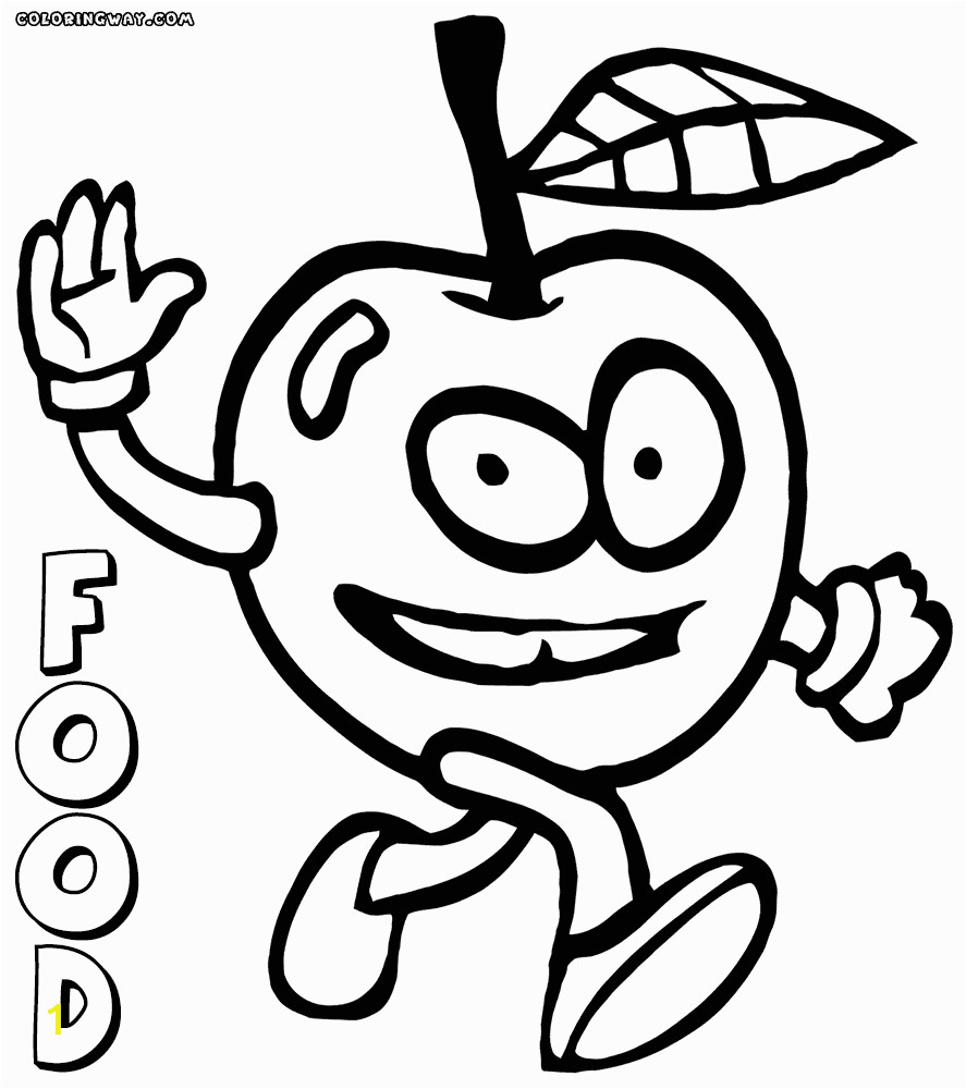 Coloring Pages Of Food with Faces Food with Faces Coloring Pages