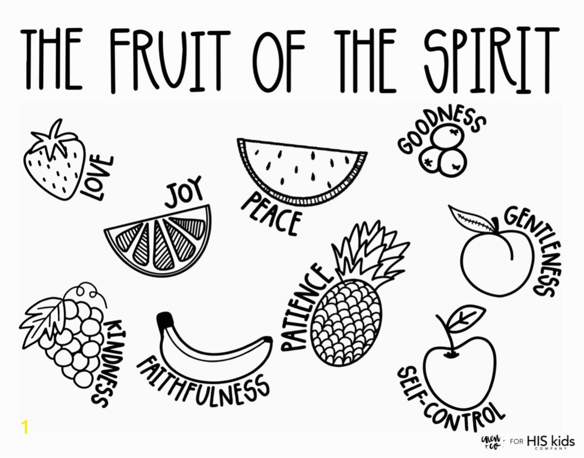fruit of the spirit free coloring page