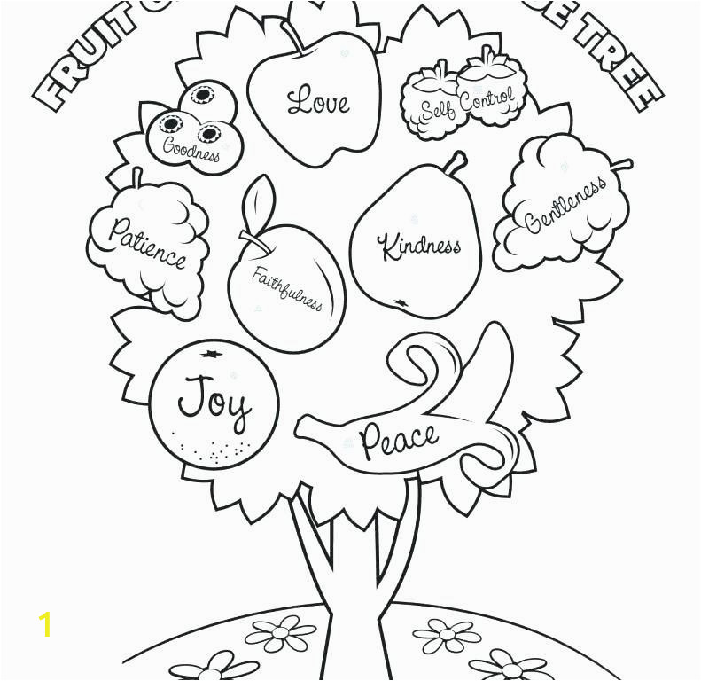 150 fruits of the spirit coloring page