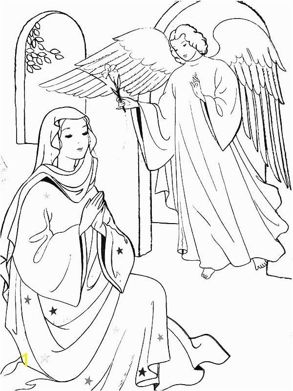 mary and angel gabriel coloring page