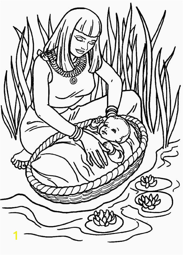 Coloring Pages Of Miriam and Baby Moses 24 Baby Moses Coloring Page with Images