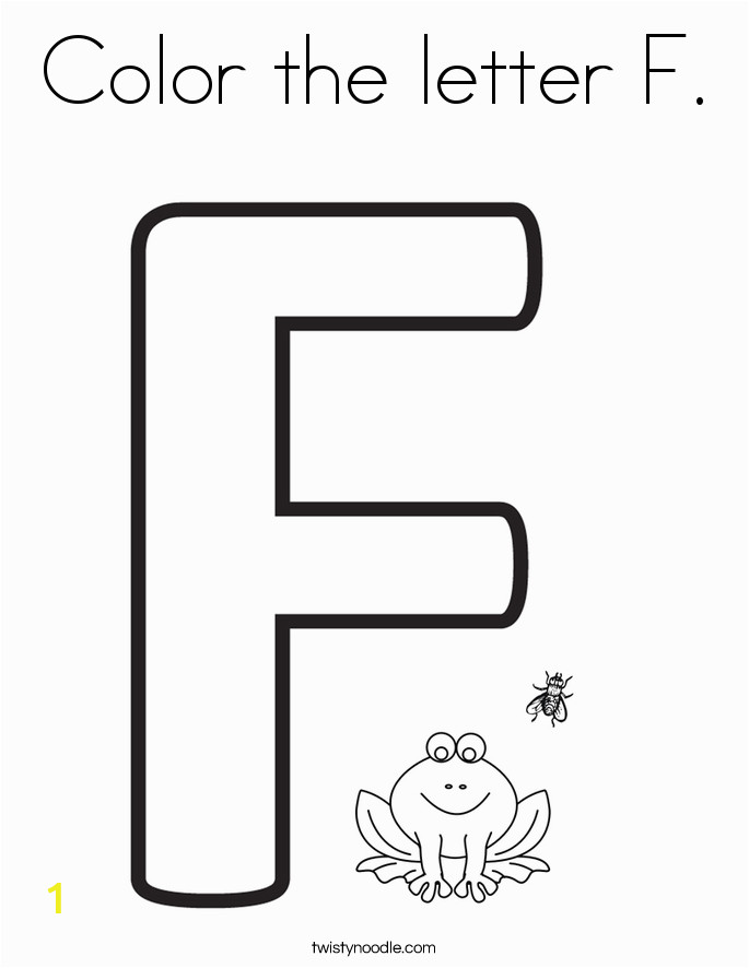 color the letter f 2 coloring page