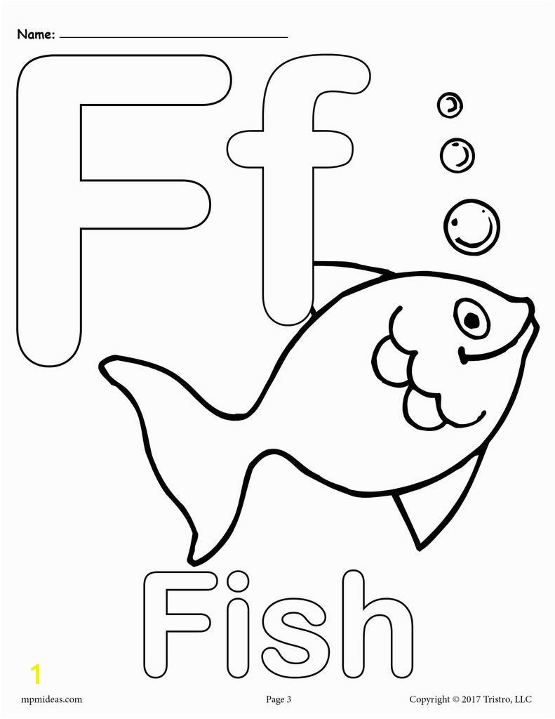 Coloring Pages Of the Letter F Letter F Alphabet Coloring Pages 3 Free Printable