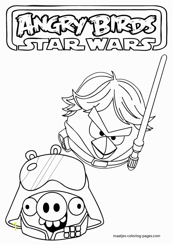 Coloring Pages Star Wars Angry Birds Angry Birds Star Wars Coloring Pages