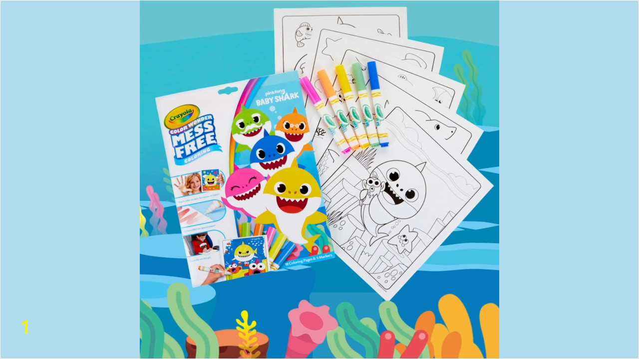 crayola baby shark coloring pages color wonder mess free coloring stocking stuffer t for kids age 3 4 5 6