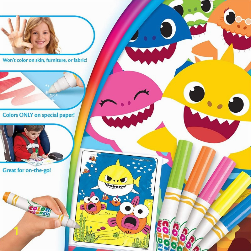 crayola color wonder mess free baby shark coloring pages markers