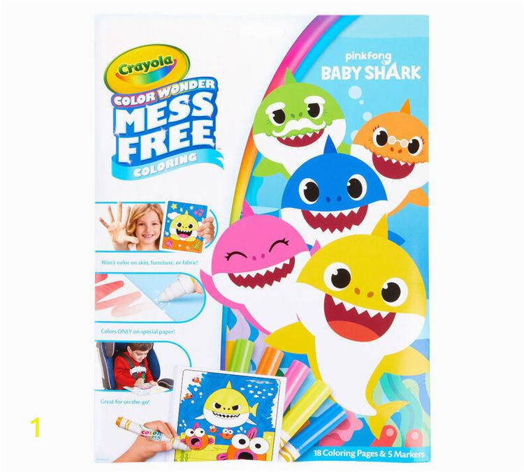 Crayola Color Wonder Baby Shark Mess Free Coloring Pages Crayola Color Wonder Mess Free Baby Shark Coloring Pages