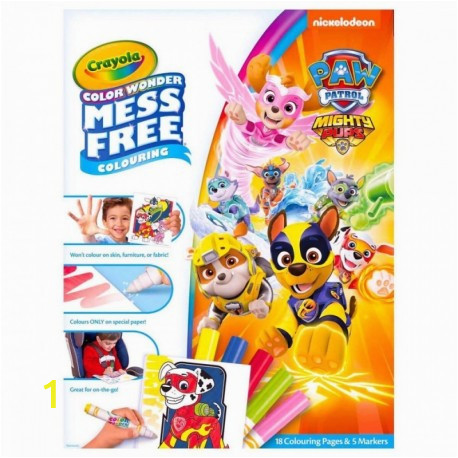 crayola color wonder mess free paw patrol coloring pages markers