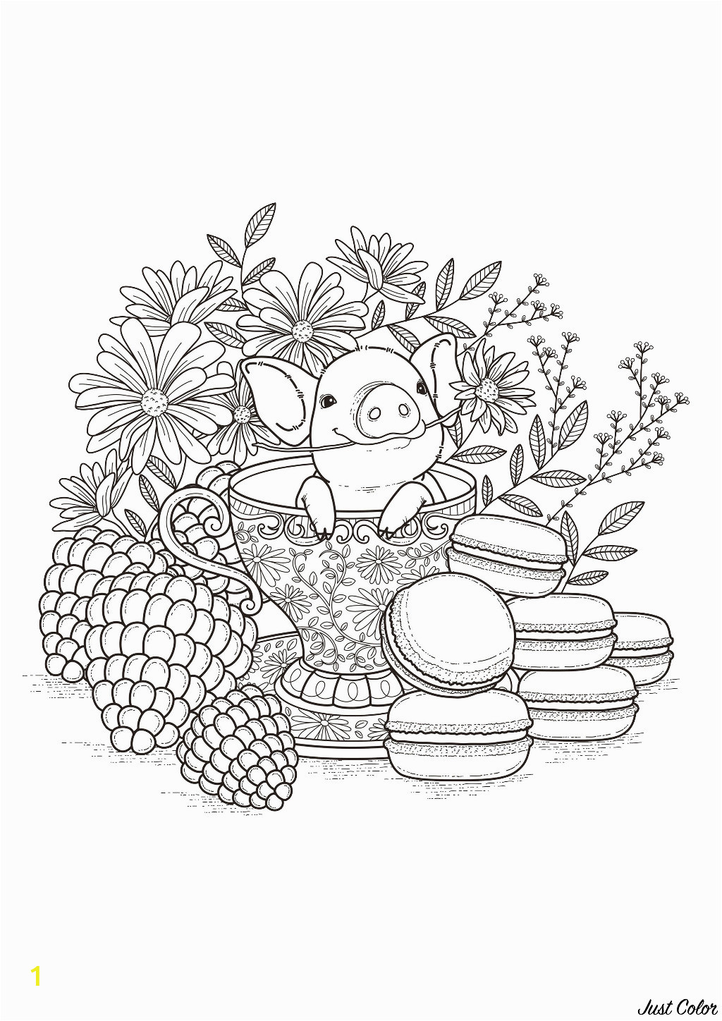 image=pigs coloring page adults baby pork 1