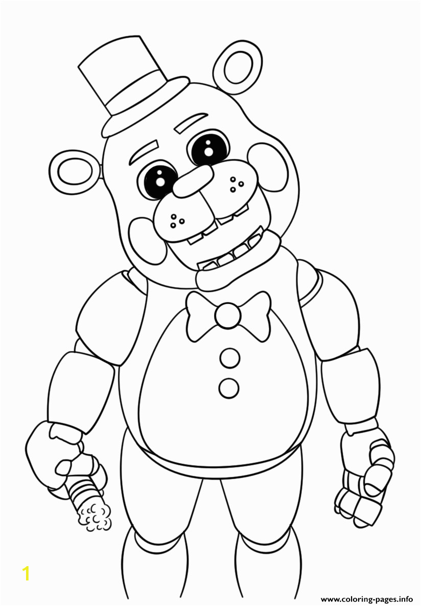 Cute Five Nights at Freddy S Coloring Pages Cute Five Nights at Freddys 2018 Coloring Pages Printable
