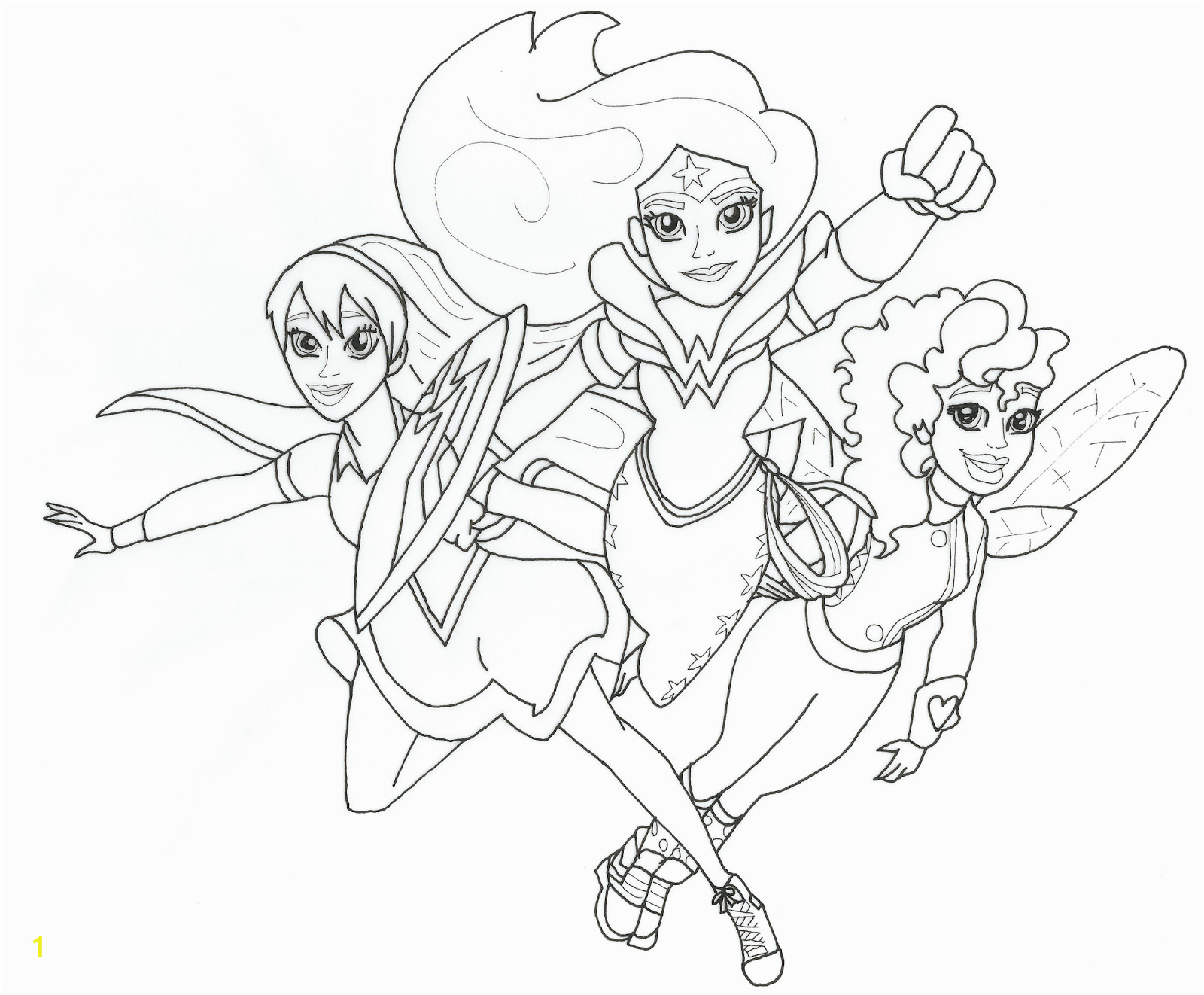 dc super hero girls free printable