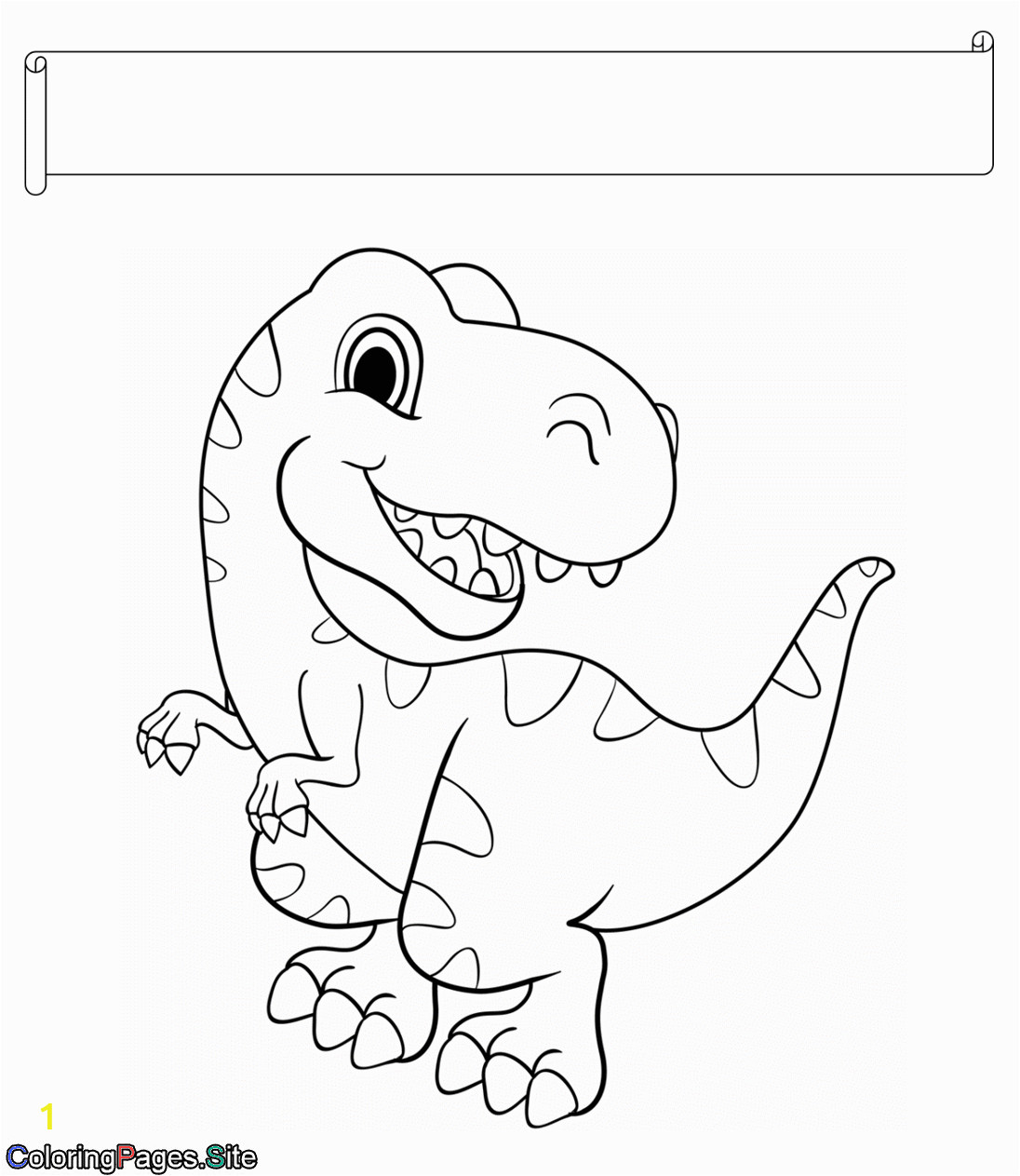 dinosaur coloring pages with names pdf