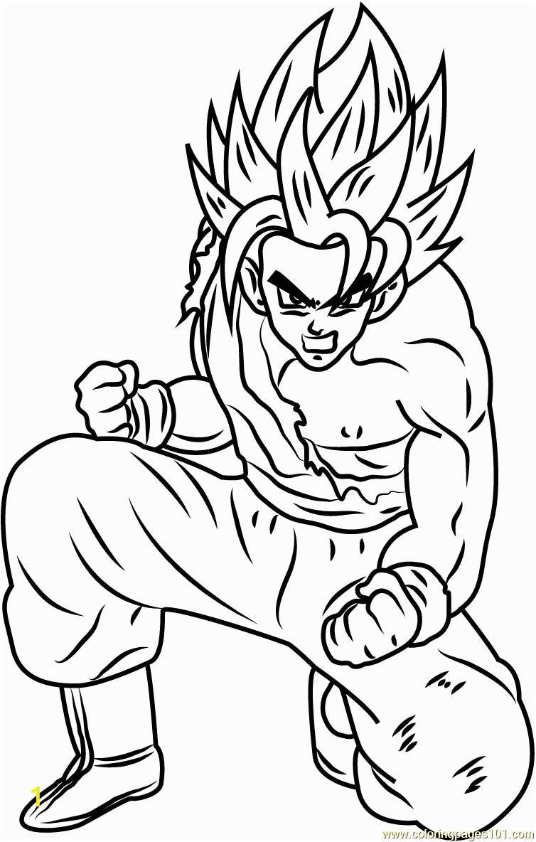 son goku dragon ball z coloring page