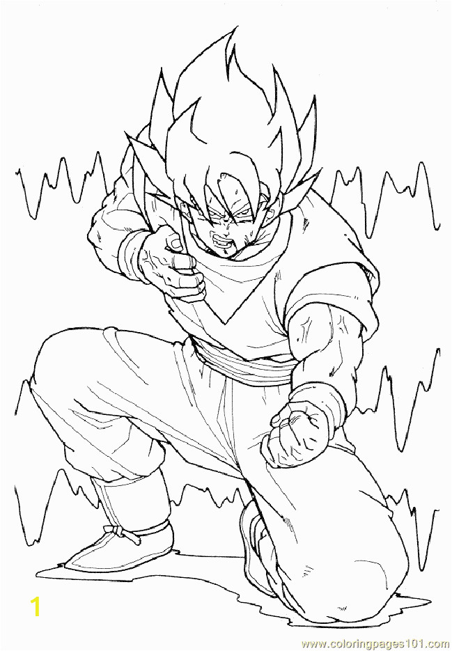 dragonballz 01 coloring page