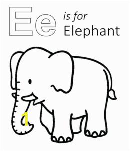 learning letter e in the alphabet