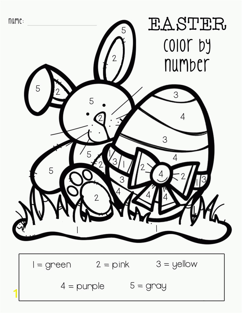 easter color numbers