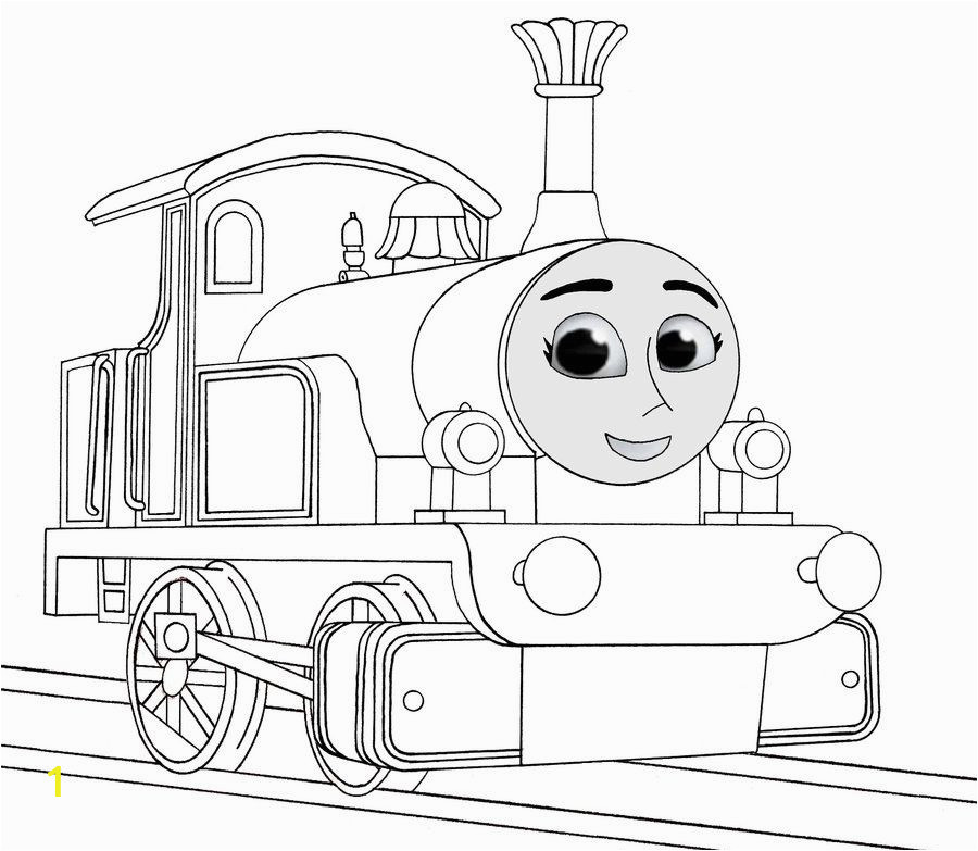 thomas train easy coloring pages