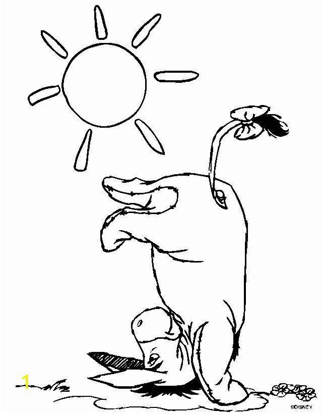 eeyore winnie pooh coloring pages