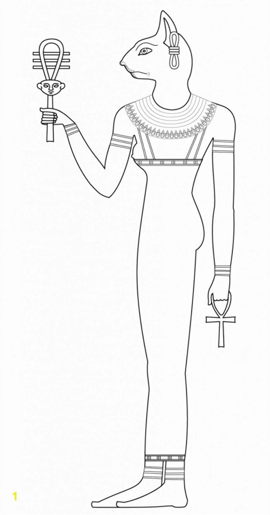 Anubis coloring egyption god