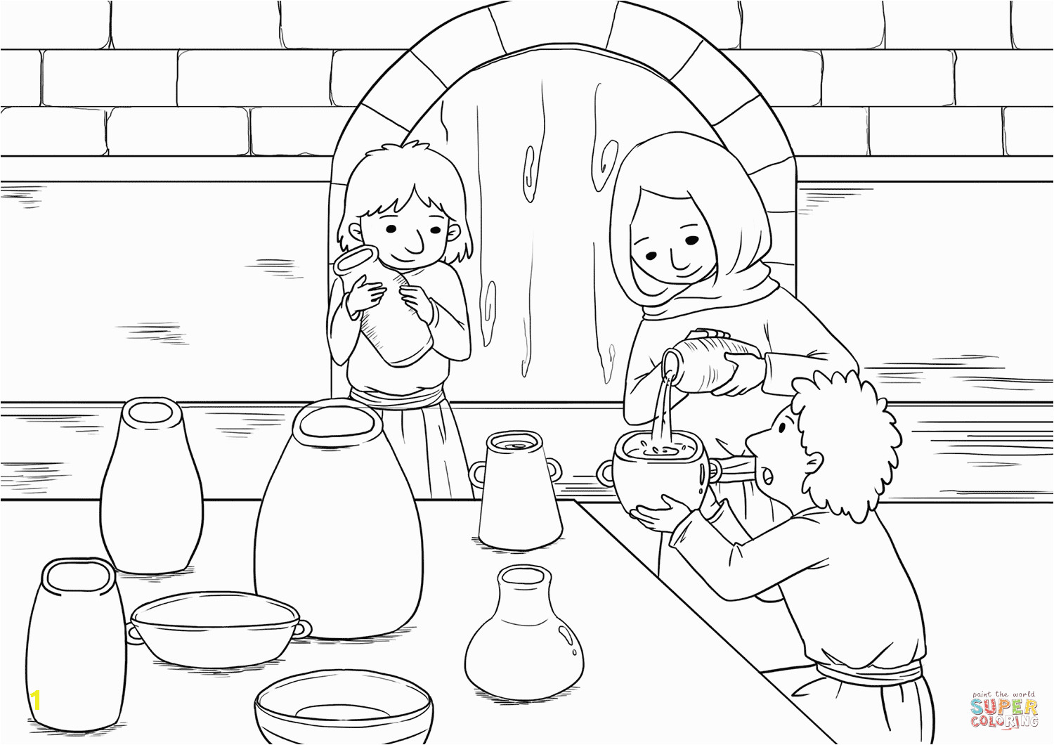 the widow and her sons pour oil into all the jars