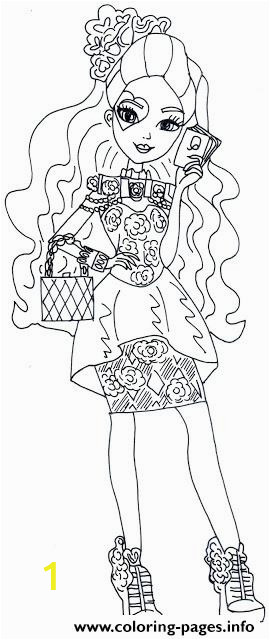 spring unsprung lizzie hearts ever after high printable coloring pages book