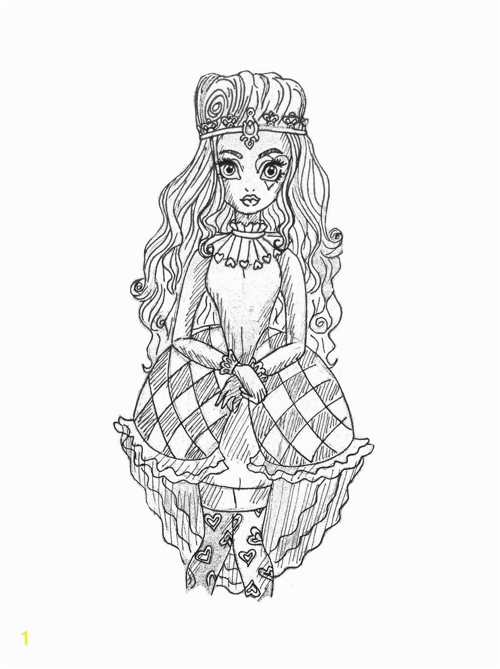 Young Lizzie Hearts sketch