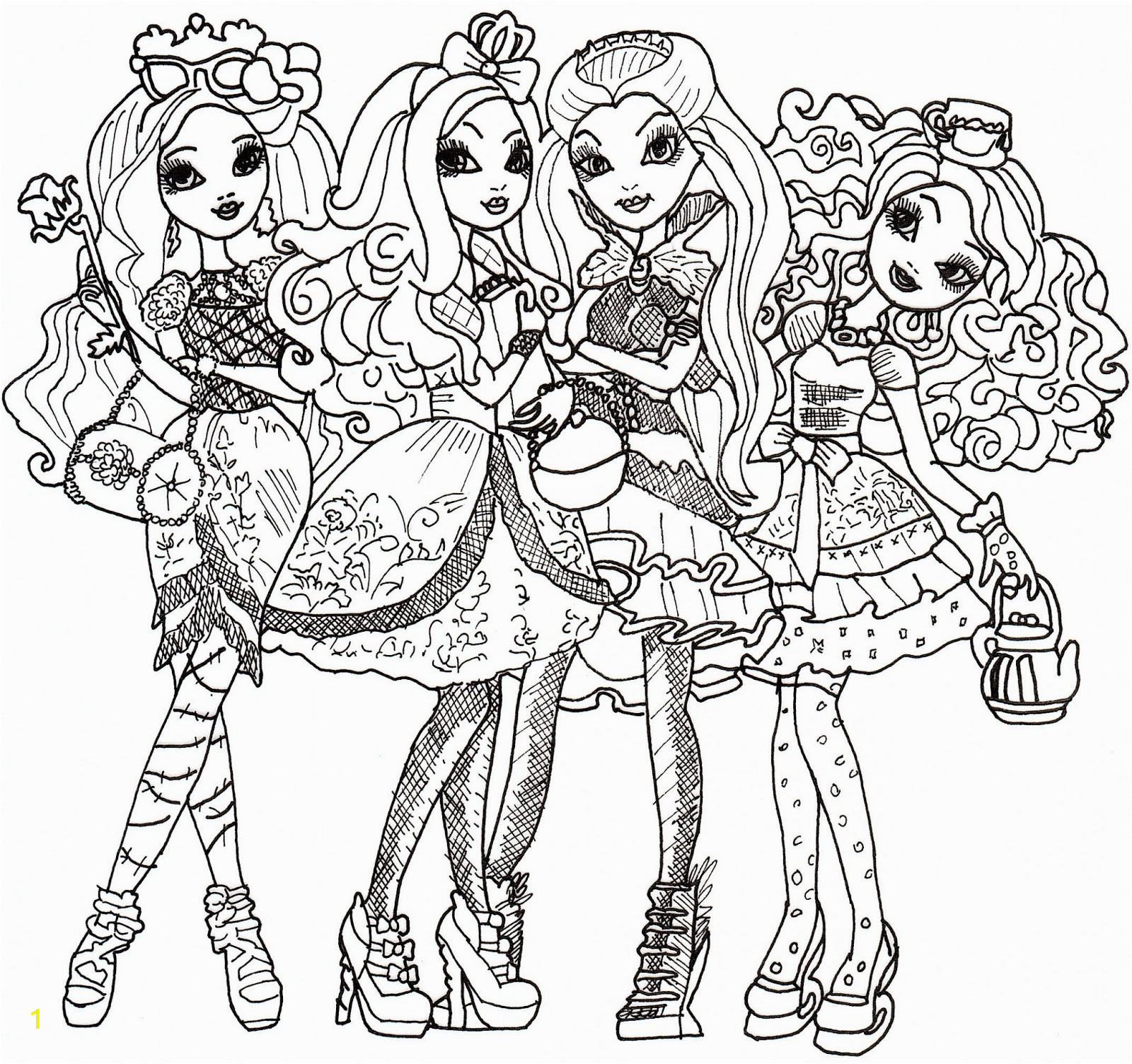 ever after high coloring sheet