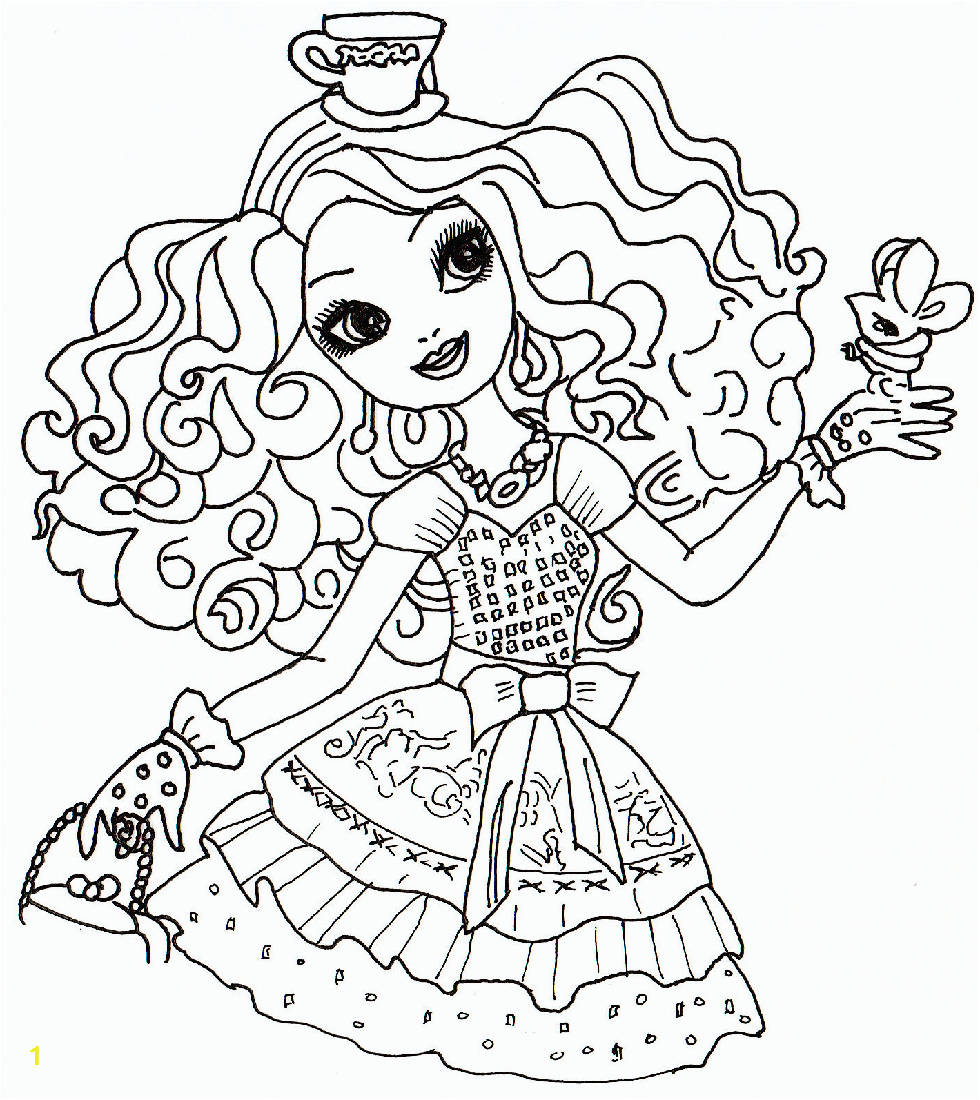 madeline hatter coloring page