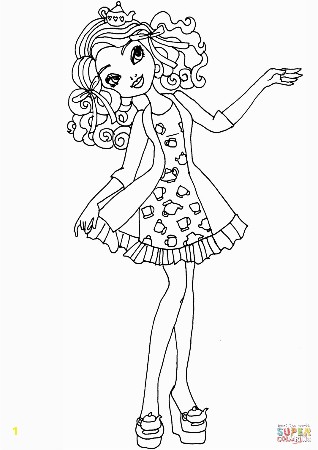 ever after high coloring pages madeline hatter