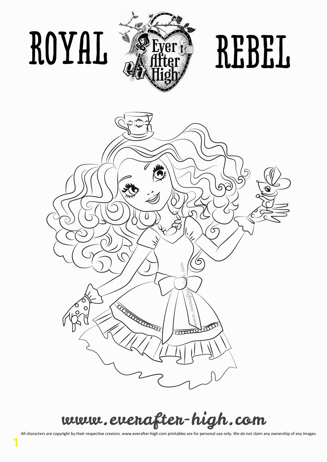 madeline hatter coloring pages