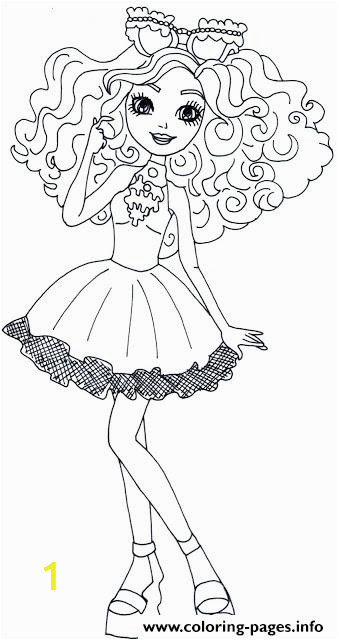 madeline hatter ever after high printable coloring pages book