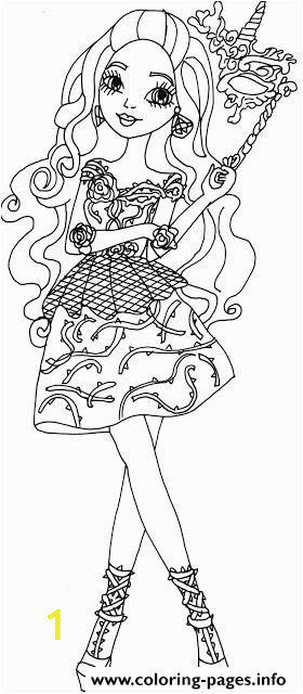 briar beauty throne ing ever after high printable coloring pages book