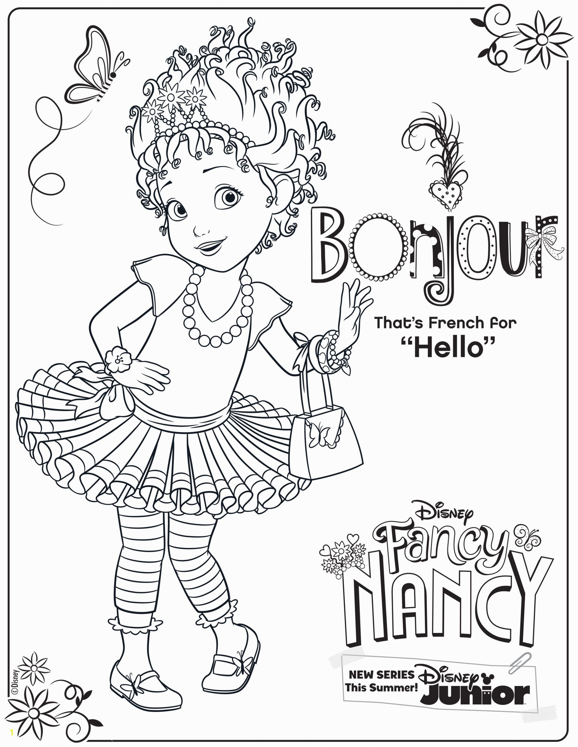 Fancy Nancy Coloring Pages to Print Fancy Nancy Coloring Page Activity