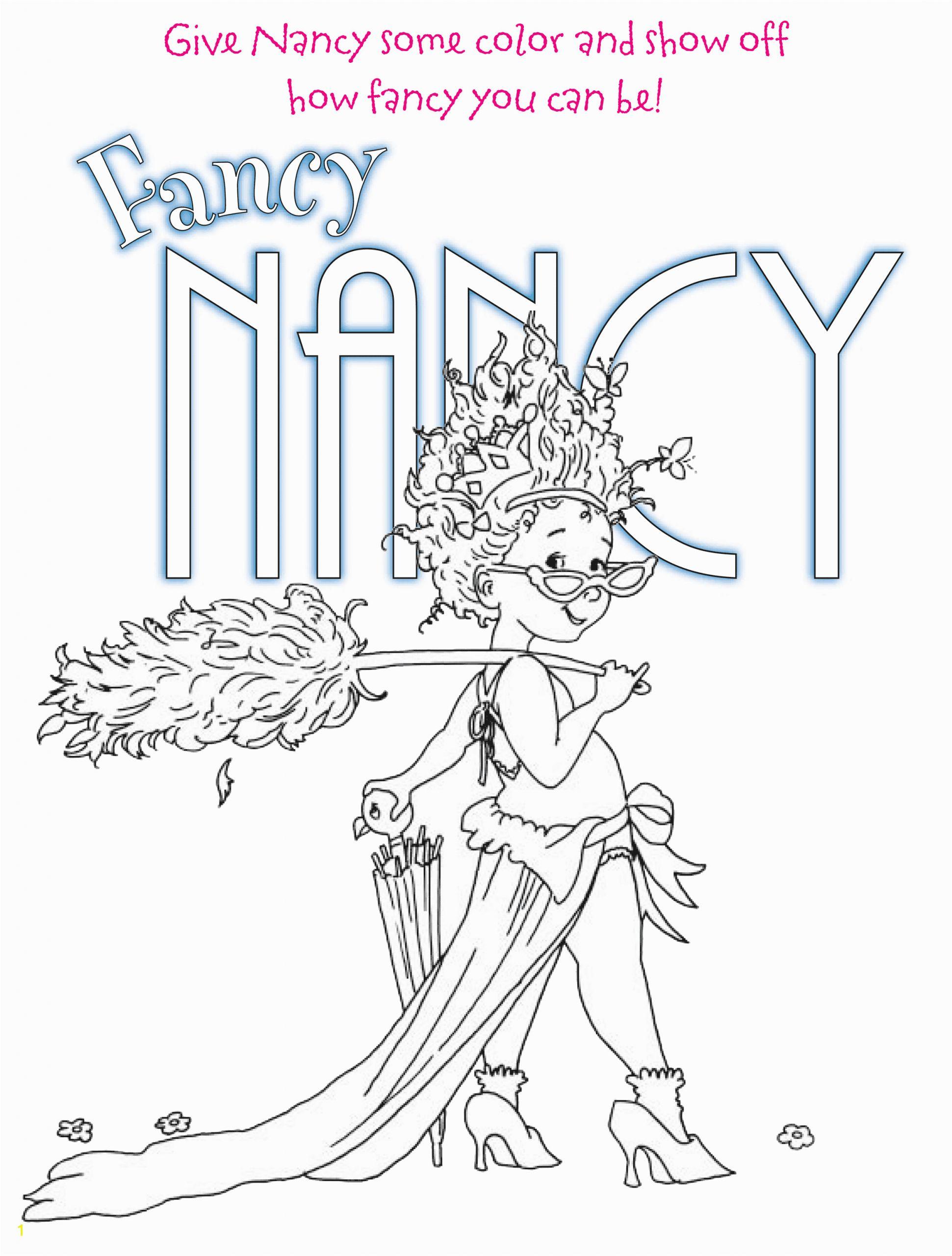 fancy nancy tea party coloring pages