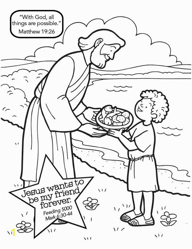 jesus feeding 5000 coloring page