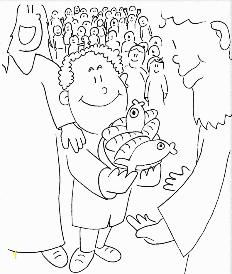 jesus feeds 5000 coloring page