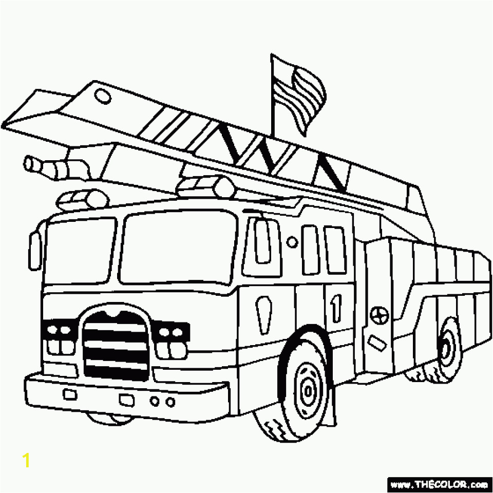 fire truck coloring page online printable