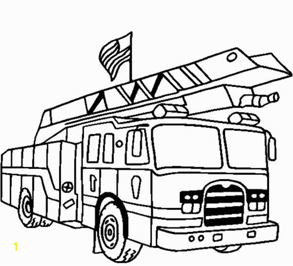 Fire Truck Coloring Pages to Print Get This Kids Printable Fire Truck Coloring Page Free