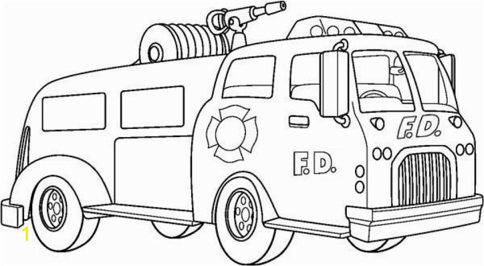 online printable fire truck coloring page