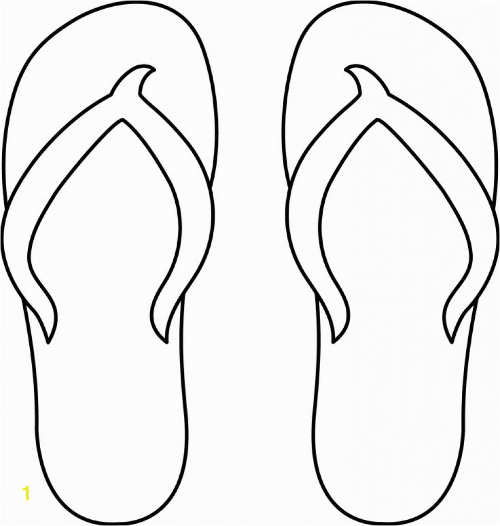 flip flop coloring page