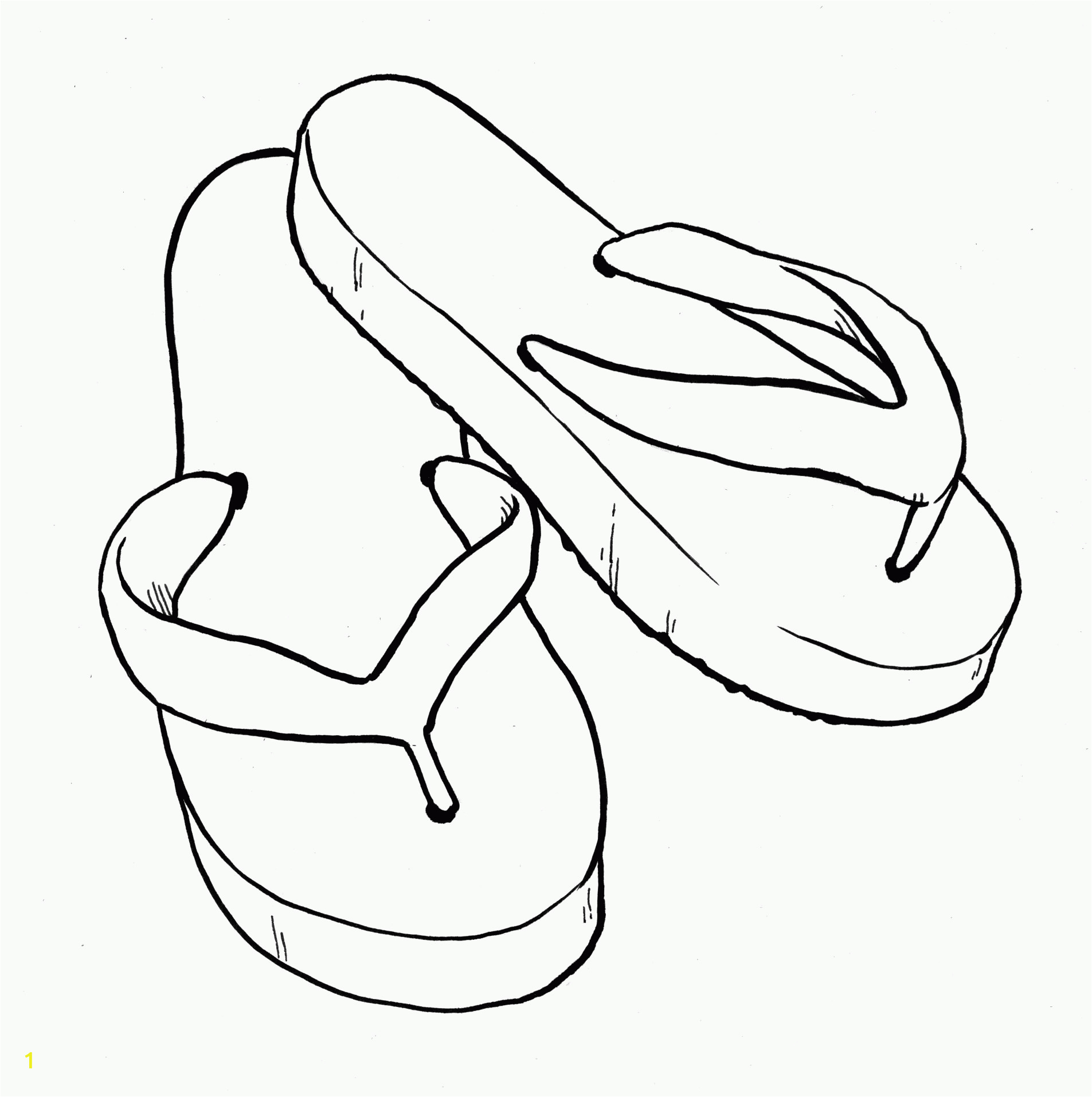 Flip Flop Coloring Pages for Kids Printable Coloring Pages Flip Flops Coloring Home