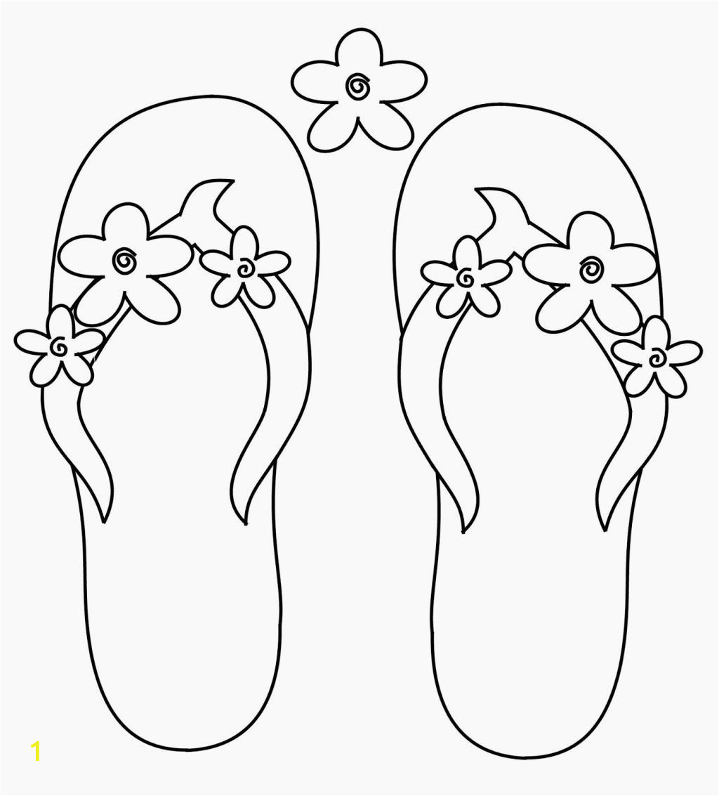 Flip Flop Coloring Pages Free Printable Flip Flop Coloring Page