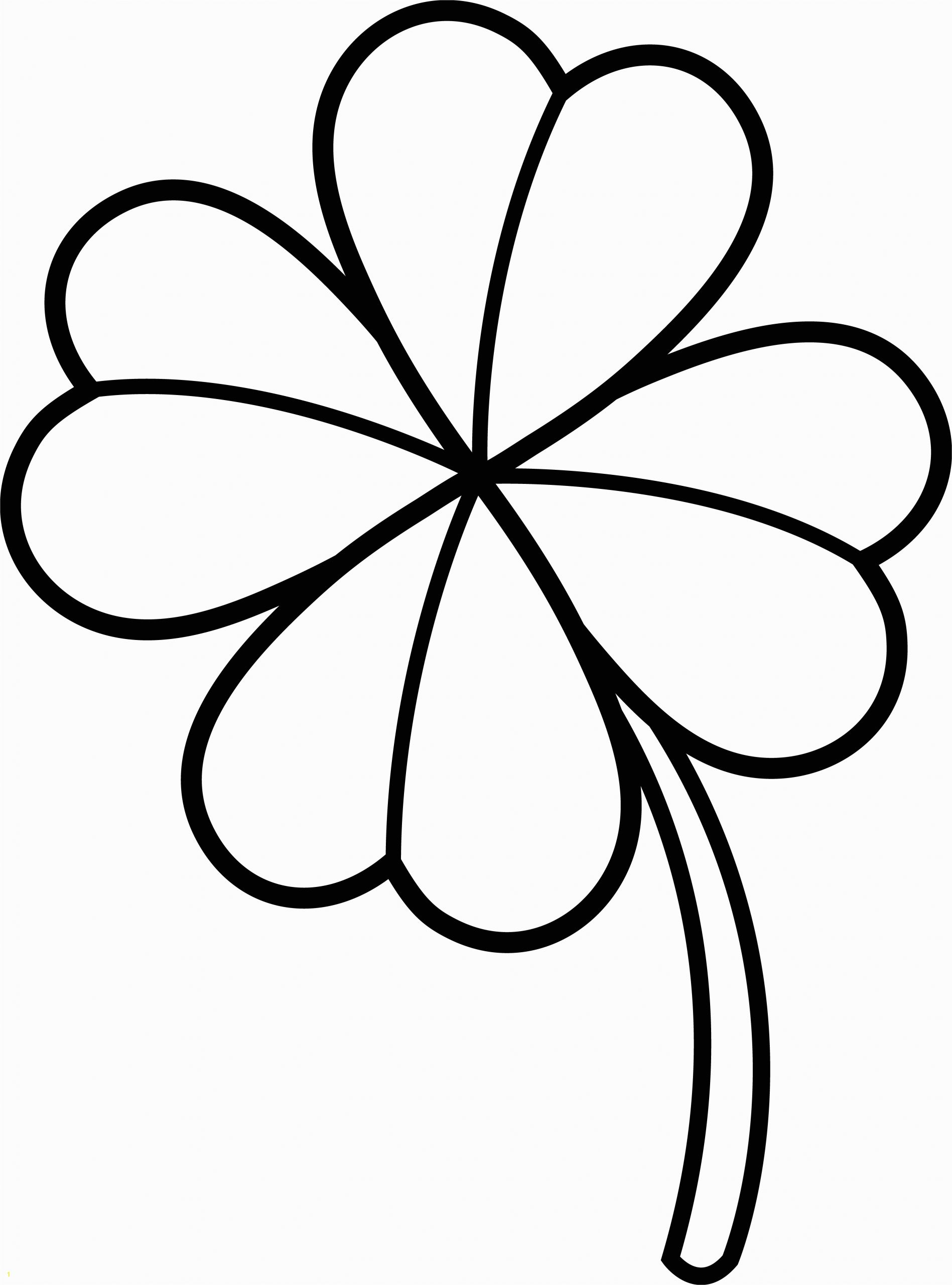 Four Leaf Clover Coloring Pages Printable Four Leaf Clover Coloring Pages Best Coloring Pages for Kids