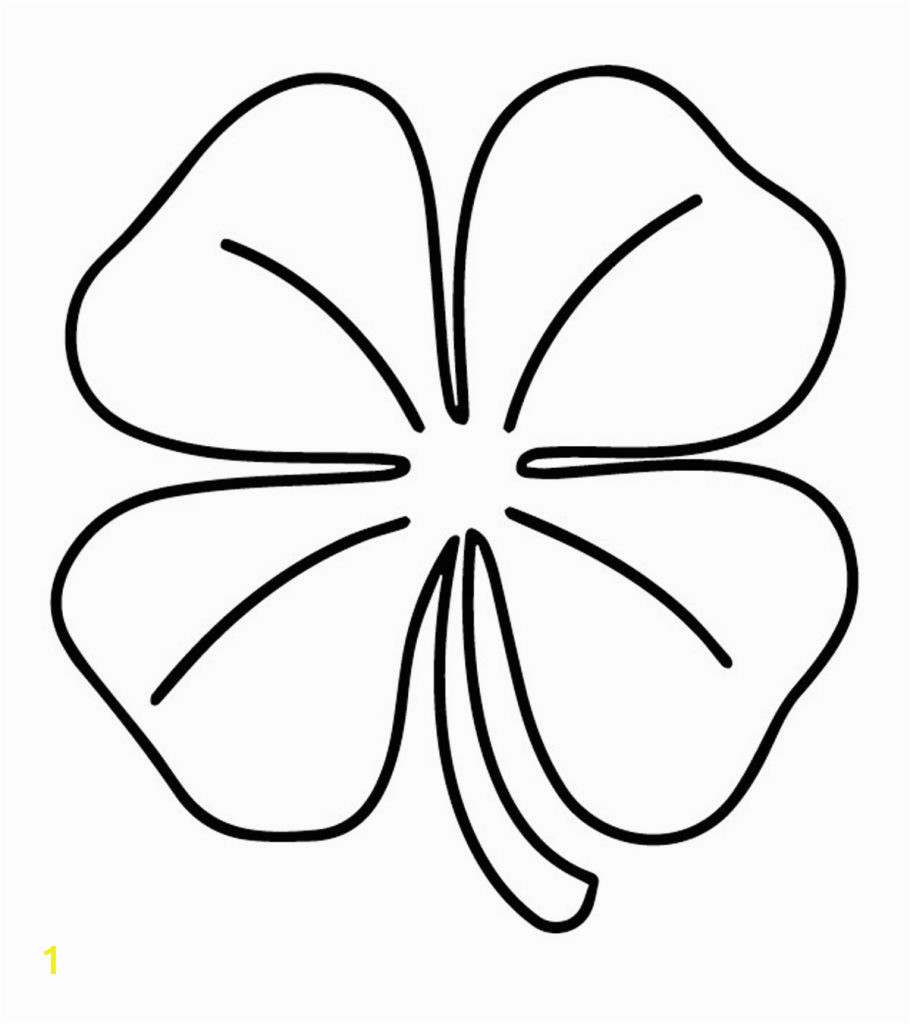 four leaf clover coloring pages toddlers