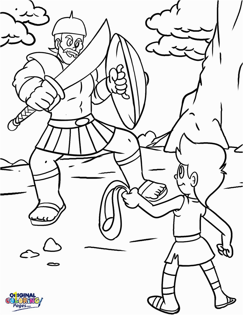 david and goliath drawing